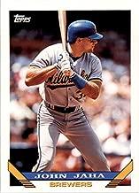 1993 Topps #181 John Jaha MLB Baseball Trading Card