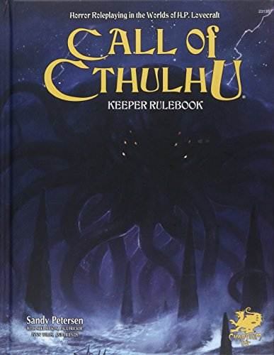 Compare Textbook Prices for Call of Cthulhu Rpg Keeper Rulebook: Horror Roleplaying in the Worlds of H.p. Lovecraft Call of Cthulhu Roleplaying 7th ed. Edition ISBN 9781568824307 by Chaosium Inc,Sandy Petersen,Lynn Willis,Mike Mason,Paul Fricker,Alan Bligh,Matthew Sanderson,Mike Mason