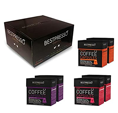 Bestpresso Nespresso Compatible Gourmet Coffee Capsules - Nespresso Pods Alternative - Natural Espresso Flavors by Bestpresso