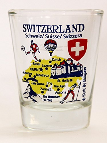 Switzerland Landmarks and Icons Collage Shot Glass