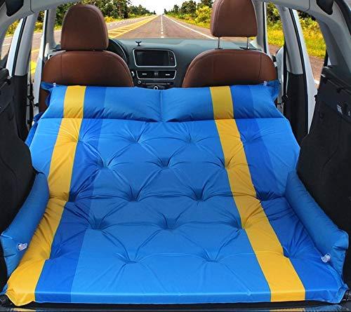 QWERD Multifunktionale Auto-Matratze mit automatischer Aufblasfunktion, zusammenklappbar, für den Kofferraum, Reisekissen (Farbe: 6 cm dick)