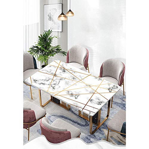 DLSM PVC transparent tablecloth printed plastic 3D digital waterproof and oil-proof tablecloth-C3_90*120