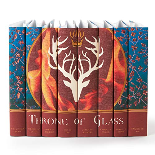 Juniper Books Throne of Glass Custom DUST Jackets ONLY| Eight - Volume Hardcover Book Jackets Custom Designed Dust Jackets (Books NOT Included) | Author Sarah J. Mass