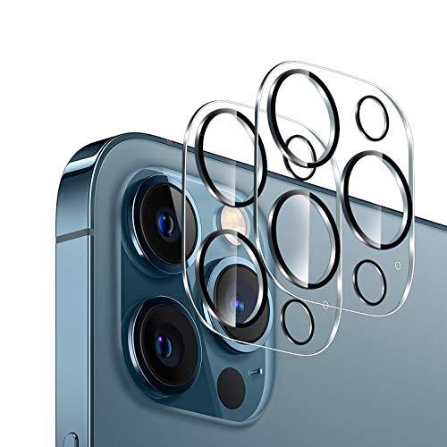 GEEMEE per iPhone 12 PRO Max Camera Vetro temperato, Anti Graffi HD Trasparenza Fotocamera Protettiva Screen Protector Film per iPhone 12 PRO Max (6,7')-Transparente