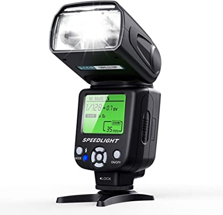 Flash Speedlite for Canon Nikon Olympus Pentax,ESDDI Cameras Flash,LCD Display,Multi,DSLR and Digital Cameras with Standard Hot Shoe