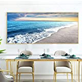 DIY Diamond Painting Kits Talla Grande,Paisaje marino Pintura de Diamante 5D Completo Set Crystal Rhinestone bordado de punto de cruz artes manualidades for Home Wall Decor Gifts Square Drill-20x32in