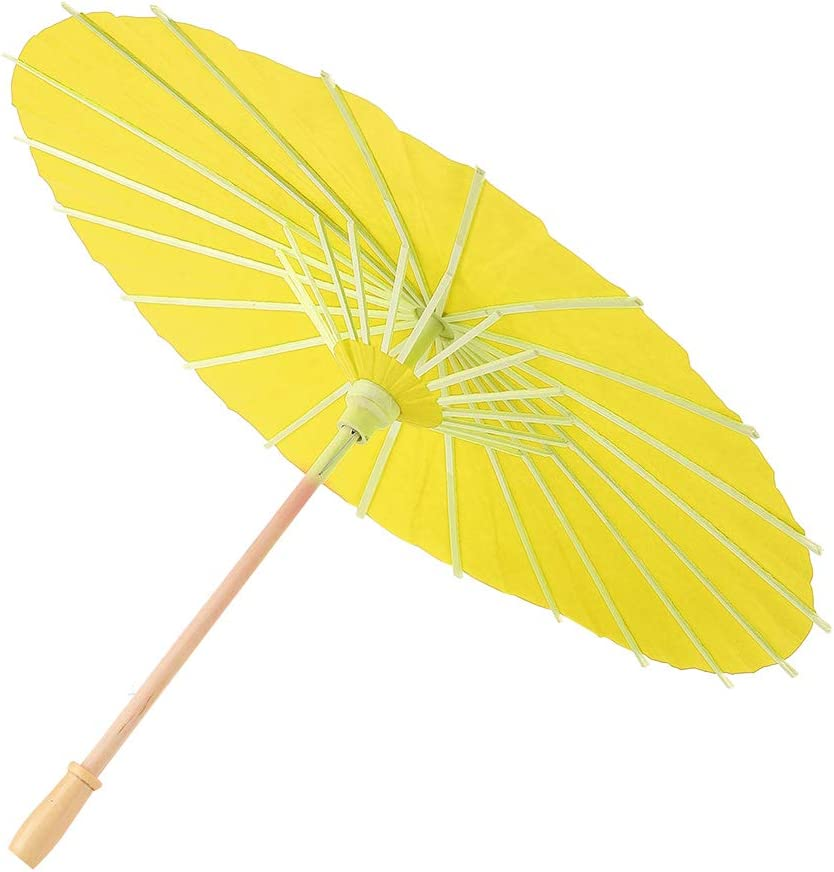 DIY Paper High order Umbrella Blank Props Decor Hand for Mesa Mall