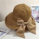Primavera e l'estate grandi nuovi cappelli da pescatore di prua donna coreana moda rullo in maglia pentola traspirante protezione solare parasole-Card_adjustable