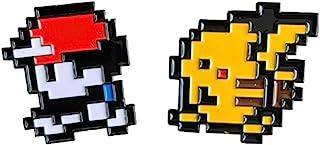 Pocket Monster Ash Pikachu 8 Bit Gameboy Enamel Pin