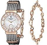 Charriol Women's ST30PC560014 St Tropez Analog Display Swiss Quartz Silver Watch