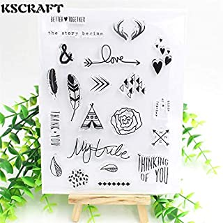 Ransparent Silicone Stamps Stamp Silicone The Story Begins Transparent Clear Silicone Stamp/Seal for DIY Scrapbooking/Photo Album Decorative Clear Stamp Sheets