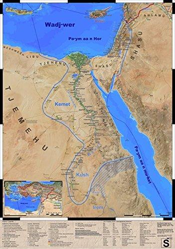 Das Alte Ägypten zur Zeit des Neuen Reichs: Landkarte (gerollt)