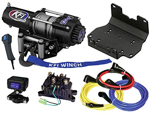 KFI A3000 3000lb Winch & 101275 Winch Mount kit Compatible/Replacement for 2016-2021 Yamaha Grizzly 700 4x4