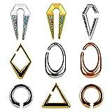 KUBOOZ Ohr Gewicht Heavy Ear Gauges Expander Stretchers Piercing Edelstahl Ohrringe Upgrade Geschenk...