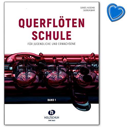 Querflötenschule Band 1 - zweibändige Schule für Jugendliche und Erwachsene - Lehrbuch mit herzförmiger Notenklammer - VHR3663 9783864340970