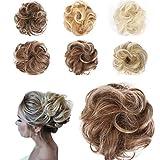 JUSTDOLIFE moño de pelo sintético elástico moño extensión de pelo moño para belleza del cabello