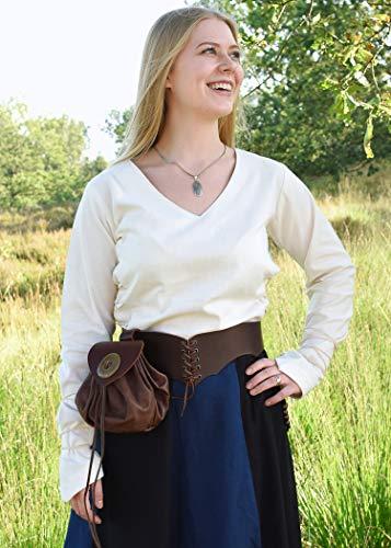 Mittelalterlicher Rock, weit ausgestellt aus schwerer Baumwolle Mittelalter LARP Wikinger Kostüm verschiedene Ausführungen (XXL, Schwarz/Blau) - 5