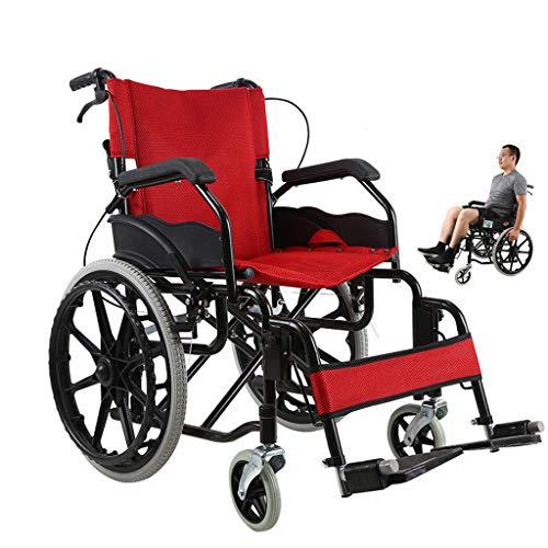 Rollstuhl Faltbar,Kohlenstoffstahl hohe tragfähigkeit Erwachsene Rollstühle,Rollator Faltbar Leichtgewicht,C