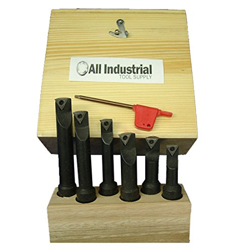 Best Price 6 Pc 5/8 Indexable Boring Bar Set Lathe Round Shank Bars
