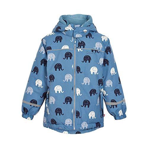 CeLaVi Jungen Winterjacke hellblau mit Elefanten Größe 122