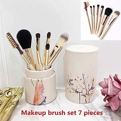 Maquillaje conjunto pincel 7 palos profesional belleza pincel maquillaje base crema corrector