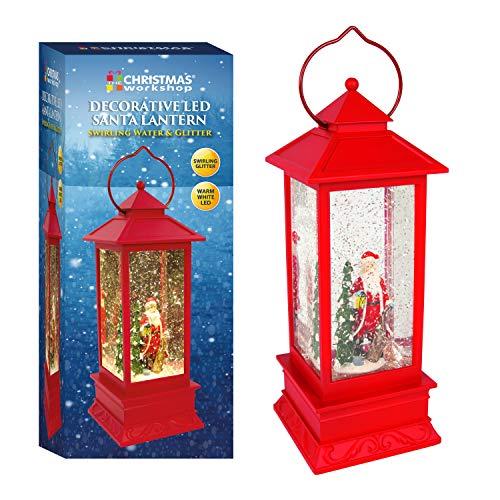 The Christmas Workshop-Lanterna, Rosso, Larghezza 27.5cm di Altezza x profondità 10.5cm
