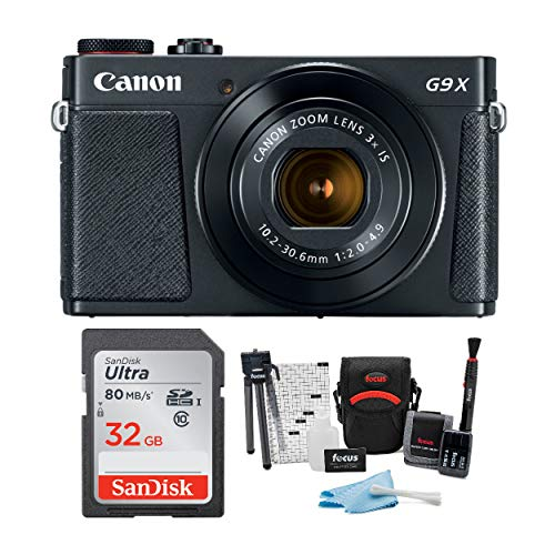 Canon Powershot G9 X Mark II Digital Camera with 32GB Card and Accessory Bundle