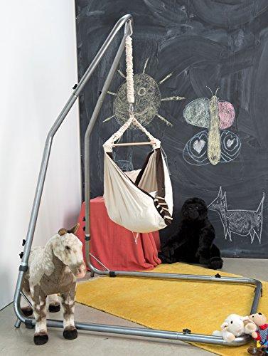 AMAZONAS Formschönes Hängesesselgestell aus Stahl Luna RockStone höhenverstellbar für Wohnzimmer und Garten 120 x 200-240 x 145 cm bis 120 kg - 6