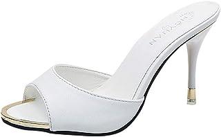 c9490e8070f408 Sandales Femme Talon, Mode Femmes Sandales D'éTé Chaussures Parti Haut Talon  Stiletto Open
