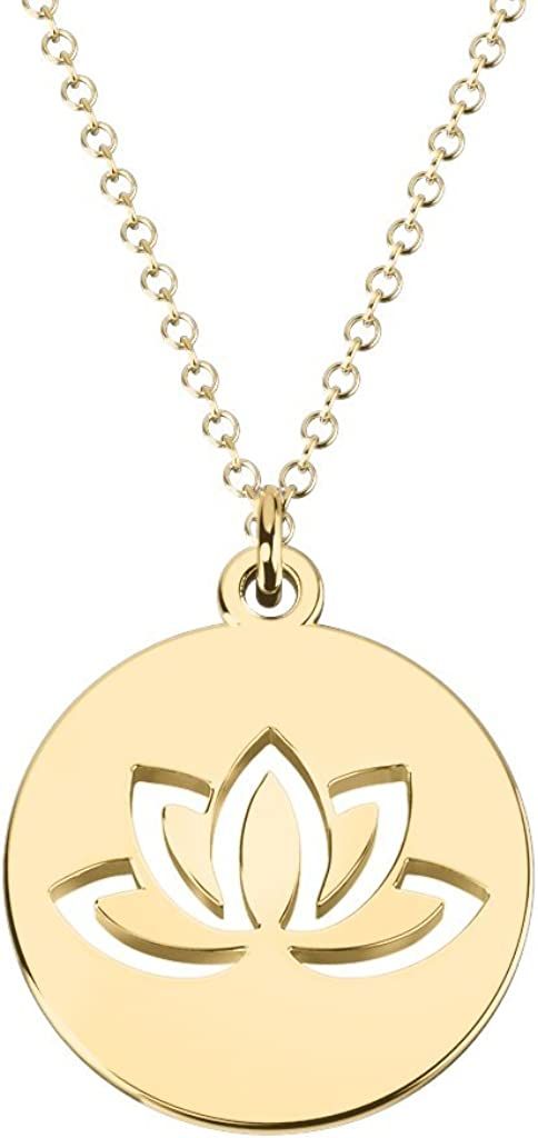 14K Gold Lovely Lotus Cutout Quantity limited by Charm JEWLR Free shipping Disc