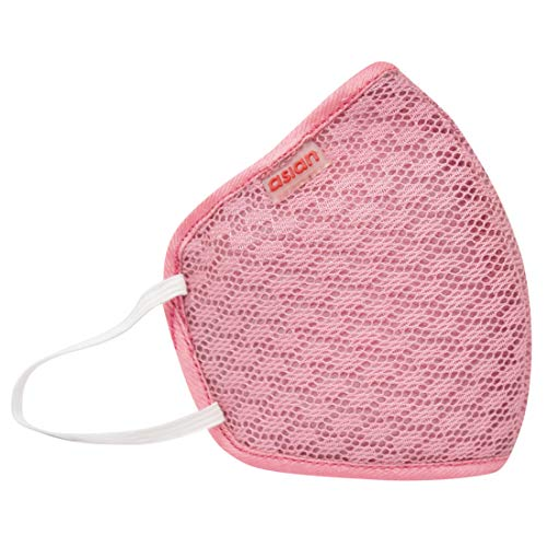 Asian Unisex Reusable 6 layer pink Outdoor Face mask (Pack of 1)