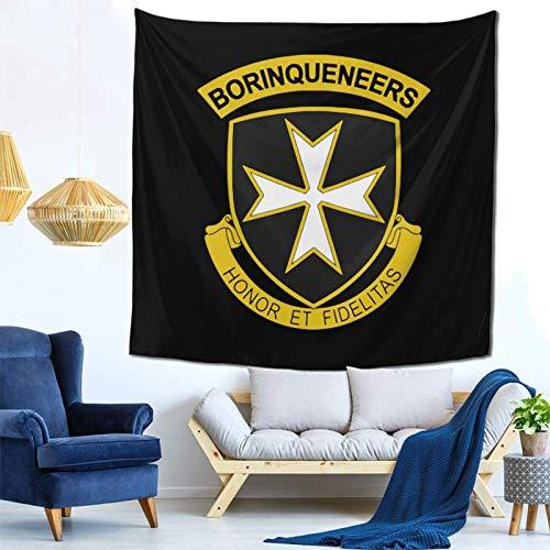 Lsjuee 65 ° reggimento di fanteria arazzo appeso a parete decorazioni per la casa Fan Art per Camera da letto soggiorno Dormitorio