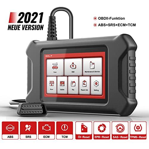 """Mucar CS4 OBD2 Diagnosegerät ,5"""" LCD-Display OBDII Scanner, 2021Neue Version Fehlercode-Auslesegerät mit 28 Wartungsdiensten und 4 Systemdiagnosen ABS/SRS/ECM/TCM, 4 Reset-Funktion Kostenlose Nutzung"""
