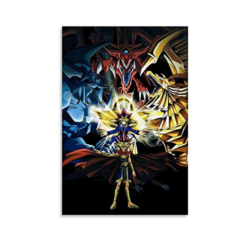 BAOBAI Anime Yugioh Yu-Gi-Oh! Egyptian God Atumu Mutou Yuugi Poster Decorative Painting Canvas Wall Art Living Room Posters Bedroom Painting 12x18inch(30x45cm)