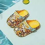 Chancla Puma Mujer,Zapatos De La Cueva De Los NiñOs, Hombres Y NiñAs Antideslizante PVC Soft Soft Room, con Bolso De Dibujos Animados Head Beach Garden Sports Shoes-Largo (17 Cm / 6.7')_Amarillo