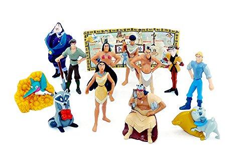 Pocahontas Figuren Satz in groß mit Beipackzettel (aus dem DISNEY - Film)