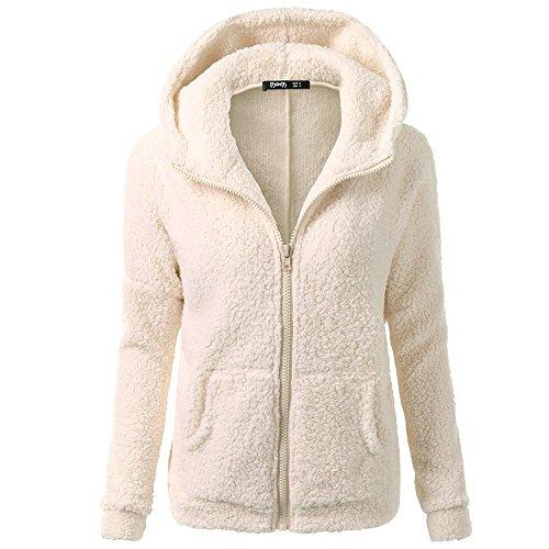 Vrouwen Winter Warm Hooded Korte Jas Dames Lange Mouw Effen Kleur Wol Jas Trui Mode Rits Katoen Bovenkleding Maat