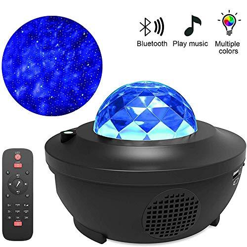 LaMei Yang Proyector de luz Nocturna Starlight, luz de Noche para niños con Altavoz Bluetooth, proyector de música Starlight con 10 Modos de iluminación, Adecuado para Bodas de Dormitorio