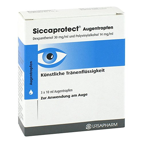 Siccaprotect Augentropfen, 3x10 ml Lösung