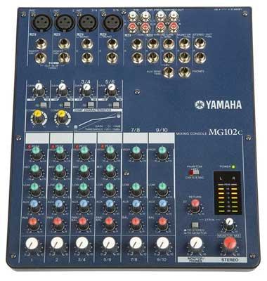 YAMAHA MG102C C-serie Mixer - 2 mono, 4 stereo