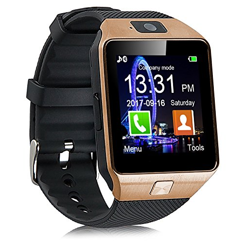 padgene dz09 bluetooth smartwatch,touchscreen wrist smart phone watch sports fitness tracker with sim sd card slot camera pedometer compatible with android smartphone for kids men women (gd2)