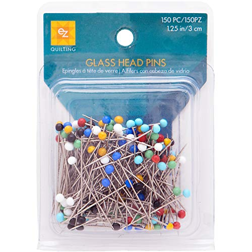 1-1//2-Inch Dritz 68-50 Pearlized Pins Turquoise Long 100-Count