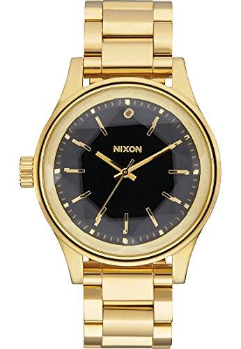 Nixon Damen-Armbanduhr Facet 38 Analog Quarz One Size, gold/schwarz, schwarz