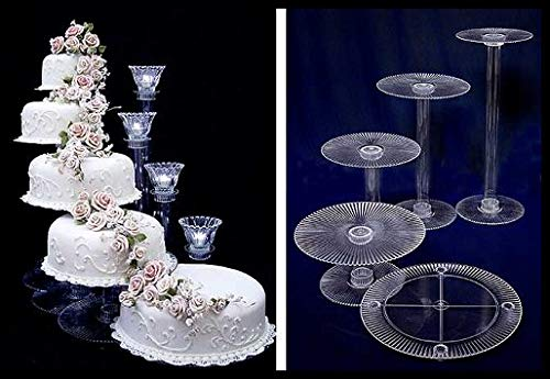 5 Tier Cascade Wedding Cake Stand (STYLE R500)