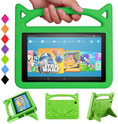 2020 Tablet case 10 inch Snowwicase All-New Amazon firl Kindle 10 Tablet case Waterproof Lightweight 10 inch Portable Tablet case for Kids Fire 10 HD Tablet Case (5th/7th/9th Generation) (Green)