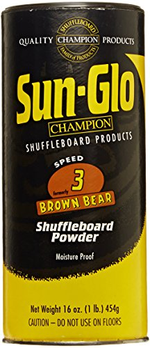 Sun-Glo Speed 3 (Brown Bear Wax) Shuffleboard Table Powder, 16 oz. Can