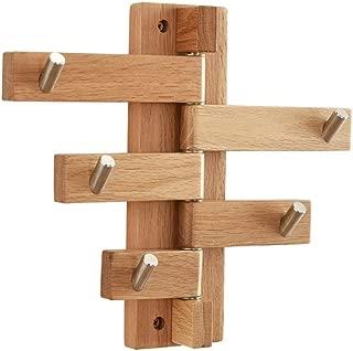 Rotatable Wooden Hook Northern Europe Modern Coat Rack Wall-Mounted Hanger Simple Entrance Hooks