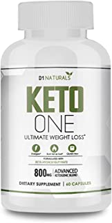 Keto One Weight Loss Diet Pills - Utilize Fat for Energy with Ketosis - Boost Energy & Focus, Manage Cravings, Support Metabolism - BHB Ketogenic Supplements for Women and Men - 30 Day Supply