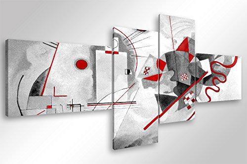 Degona Quadro Moderno Kandinsky Modern - cm 160x70 Stampa su Tela Canvas Arredamento Arte Astratto XXL Arredo per Soggiorno Salotto Camera da Letto Cucina Ufficio Bar Ristorante