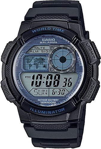CASIO Herren Digital Quarz Uhr mit Resin Armband AE-1000W-2A2VEF